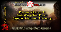 Wing Chun Punch Using Maximum Efficiency (Hek Ki Boen Eng Chun) Tags: man black flag wing chun donnie yen ki hek ip yip boen