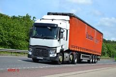 Renault Range T reg AU65 AYO (erfmike51) Tags: lorry artic curtainside euro6 bactontransport renaultranget