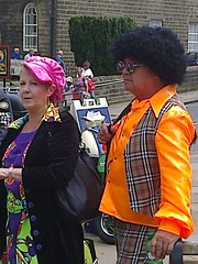 photo1661 (melissawhitaker503) Tags: pink boy hat hair clothing 60s baker bright afro clothes 1960s haworth checked