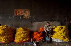 Flower seller... (Tathagata Sikdar) Tags: colours marigold kolkata flowerseller incrediblebengal