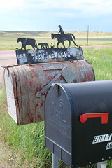 1 Ranch, 3 Mailboxes (www.JnyAroundTheWorld.com - Pictures & Travels) Tags: ranch usa nature mailbox canon landscape outdoors wyoming greatplains tatsunis grandesplaines