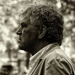 Profile (Character Portrait) (Alfred Grupstra Photography) Tags: street portrait people blackandwhite bw man hoorn character nederland streetphotography streetlife nl noordholland hoornsestadsfeesten