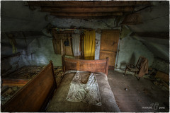 I'm looking into a possible case of reincarnation !! (Yamabxl) Tags: abandoned abbandonato belgium creepy chambrecoucher bedroom bed lit decay derelict dereliction forgotten forbidden ghost hdr highdynamicrange hidden lostplaces prohibed prohib urbex urbanexploration urbexhdr verfall verlassen verlaten farmt