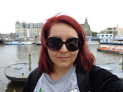 Me (DorisFM) Tags: selfie redhair ciudad city bicicleta bycicle amsterdam nederland