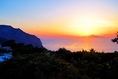 Capri sunset (kfinlay) Tags: italy italia campania capri ischia gulfofnaples sunset sun pretty beautiful colours amazing bestphoto heaven breathtaking nature landscape summer love bluehour