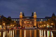 P2400534 (Lumixfan68) Tags: amsterdam rijksmuseum blaue stunde nachtaufnahmen niederlande holland sehenswrdigkeiten sightseeing