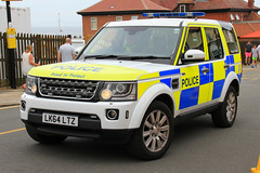 Northumbria Police Land Rover Discovery 4 Roads Policing Unit Traffic Car (PFB-999) Tags: northumbria norpol police land rover discovery disco 4 4x4 roads policing unit rpu traffic car vehicle lightbar grilles fendoffs wing mirror lights leds lk64ltz sunderland airshow 2016