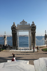 Dolmabahçe Palace Gate (Ray Cunningham) Tags: dolmabahçe palace istanbul turkey osmanlı imparatorluğu ottoman empire turkish islam