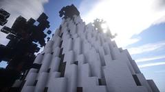 Bergspitze (Minecraft Wallpaper) Tags: wallpaper strand landscape mond wasser nebel ambient hd aussicht landschaft sonne schatten baum umgebung dner fullhd gronkh taddl minecraft pewdiepie sarazar herrbergmann pietsmiet thediamondminecart ungespielt