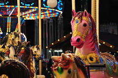 Christmas mystery carousel (AviatorD90 ) Tags: christmas sunset horse seascape nature car night landscape lights nikon dof bokeh cyprus carousel fair aviator bnw limassol d90 supermoon