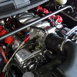 "Pontiac Trans Am engine <a style=""margin-left:10px; font-size:0.8em;"" href=""http://www.flickr.com/photos/65234596@N05/15355280723/"" target=""_blank"">@flickr</a>"