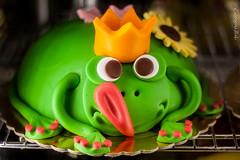 Prince frog (Georgina ) Tags: cute cake tongue yummy funny prince frog crown humourous bigtongue pinktoenails frogcake