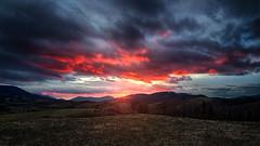 Lights of Mordor (Jiri Ostrizek) Tags: winter sunset sun mountains field clouds nikon wind hills tamron d7100