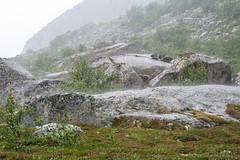 Arrival (Raphs) Tags: mountain mountains green wet rain weather norway norge highlands rocks spray strong raining canoneos350d lofoten harsh fjell raphs nordland henningsvr tamronspaf1750mmf28xrdiiildaspherical heiavatnet