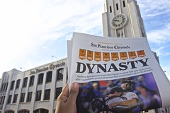 "San Francisco Chronicle: ""Dynasty"" (JJ San) Tags: sanfrancisco newspaper baseball giants worldseries gogiants"