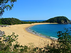 Beach Time (knightbefore_99) Tags: blue sea sky west tree beach mexico coast sand pacific sunny playa palm mexican oaxaca tropical secrets huatulco