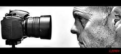 Close up ! (CJS*64) Tags: portrait bw me closeup blackwhite nikon tripod j2 cjs nikon1 innamoramento d3100 nikond3100 craigsunter cjs64