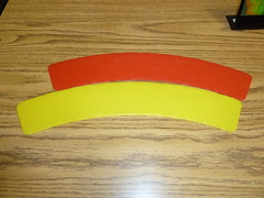 Curved strips optical illusion (tend2it) Tags: red yellow night bay cool side optical science illusion area mad curved length changes longer strips scientist