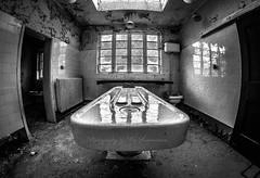 Reflections of Death (Lee Summerson) Tags: uk urban blackandwhite death mono durham decay urbanexploration derelict morgue urbex urbanmagic