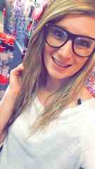 hot blonde teen with glasses
