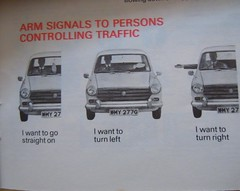 Arm signals (scouse73) Tags: old car code highway 1968 morris 1100