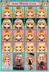 Neo Blythe Comparison: Junie Moonie Cutie (JMC/first row), Margo Unique Girl (MUG/second row), Leopard Sass (LS/third row) and Univeristy of Love (UoL/last row)