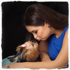 Kiss me, Baby! (MissSmile) Tags: girls portrait pet cute girl square fun kiss funny memories dig friedns misssmile