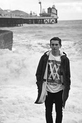 Sam BTN (Josh Brammeld) Tags: bw white black beach canon eos pier brighton sam va apparel btn vertikal