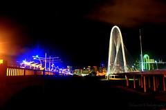 Dallas After Dark (txdrivebyshooting) Tags: bridge black colors dallas neon texas hill margaret dfw hunt afterdark tejas