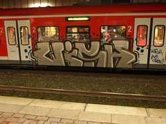 WISH (mkorsakov) Tags: train silver graffiti zug bahnhof iam wish hbf dortmund silber re11