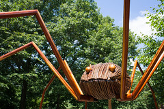 Harvestman (derekbruff) Tags: wood sculpture art daddy long legs exhibit bugs creepy willow installation redcedar harvestman cheekwood bigbugs davidrogers