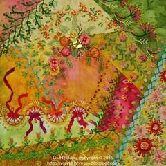 2015.01.12.CQJP2015January01 (ivoryblushroses) Tags: flowers leaves beads embroidery january cq embellishment stitching ribbon crazyquilting seams sre silkribbonemroidery cqjp2015