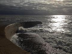 High Tide at Splash Point (pondhopper1) Tags: sussex eastsussex seaford splashpoint iphone4 iphone4s splashpointseaford
