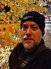Day 1059 - Day 329: Lovely leaves (knoopie) Tags: november autumn selfportrait me leaves doug year3 picturemail iphone 2014 day329 knoop 365days knoopie 365more 365daysyear3 day1059