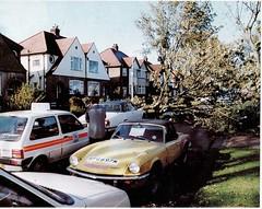1973 TRIUMPH SPITFIRE 1500 1493cc SPG697M (Midlands Vehicle Photographer.) Tags: uk storm 1987 triumph spitfire 1500 1973 1493cc spg697m