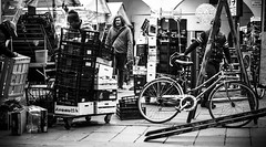 overlaps (www.davideserafin.com - AOPfotografia) Tags: street people bw bike work square traffic market walk boxes piazza activity mercato movements padova overlapse