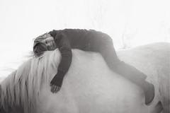 My boy (Dalla*) Tags: boy horse white black nature animal bareback iceland kid icelandichorse