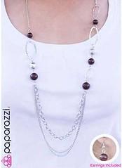 5th Avenue Brown Necklace K3 P2330A-1