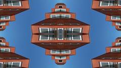 (Kispio®) Tags: shadow urban building texture up architecture edificio down symmetry ombre mirrored twisted architettura cotto campidano ambulatorio villacidro digitalmirror parallelepipedi viarepubblica supersymmetry biddexidru kispio®