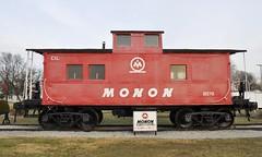 Monon, Indiana (1 of 4) (Bob McGilvray Jr.) Tags: railroad public train reading display tracks indiana caboose eje monon rdg elginjolieteastern