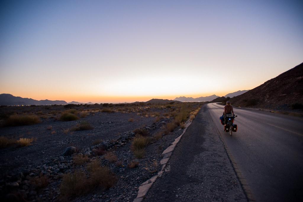 Riding into the night sky
