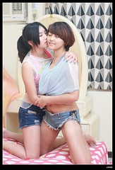 nEO_IMG_DP1U9072 (c0466art) Tags: school girls portrait love female sisters canon pose bed friend kiss asia university close sweet room gorgeous taiwan indoor attractive lovely charming elegant 1dx classmater c0466art