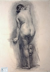 Russian academicist drawing (mike catalonian) Tags: bw female russia drawing fulllength figure academy academicist