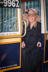 The woman on the Wellingborough omnibus (Paul Braham Photography) Tags: tractor bus car bike bicycle sportscar omnibus farmmachinery