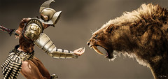 hey kitty kitty... (Migan Forder) Tags: male tiger arena elf fantasy warrior gladiator theforgestore