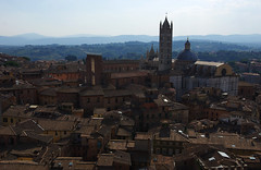 Roofs of Siena from Torre del Mangia (Gregor  Samsa) Tags: trip roof summer vacation italy sun holiday tower del italia torre sunny august roofs journey tuscany siena toscana exploration mangia watchtower torredelmangia