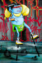 Urban Art Fair - Cranio (christophe.hiltgen) Tags: urbanartfair france paris contemporain carreaudutemple exposition streetart graphisme dessin artiste illustration graffiti tag cranio personnage nike chasse eau
