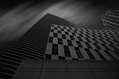 Parallel VII (roken-roliko) Tags: city longexposure sky blackandwhite white black building lines architecture clouds grey exterior patterns fineart nopeople lookingup northamerica fordhamuniversity nycnewyorkcity buildingexterior withoutpeople architectureexterior cityandarchitecture rolandshainidze