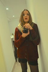 what (Leticia Manosso) Tags: winter party portrait cold girl night hair myself out indoor short inside mirrow selfie