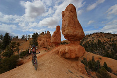 Thunder Mountain Hoodoos (csnyder103) Tags: woman bike bicycle sport fun utah trail mountainbiking thundermountain canonefs1022 canoneosrebelsl1
